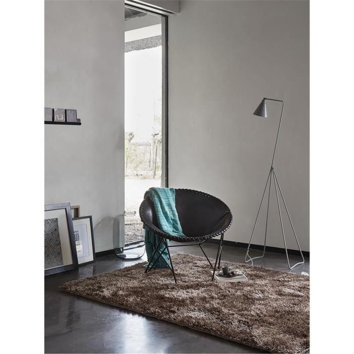 Esprit tapis poils longs new glamour marron 140x200 cm for A poil a la maison
