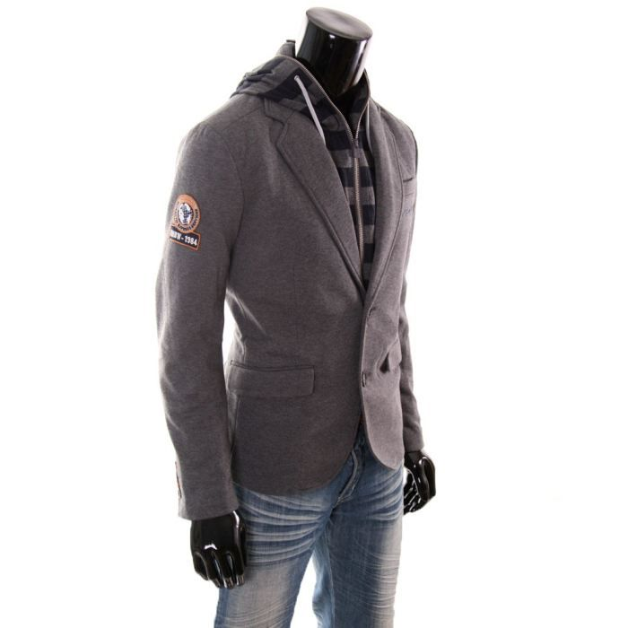 veste homme desigual different gris achat vente veste. Black Bedroom Furniture Sets. Home Design Ideas