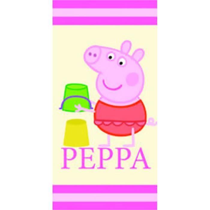 Peppa pig serviette de plage vacances peppa pig achat - Peppa cochon a la plage ...