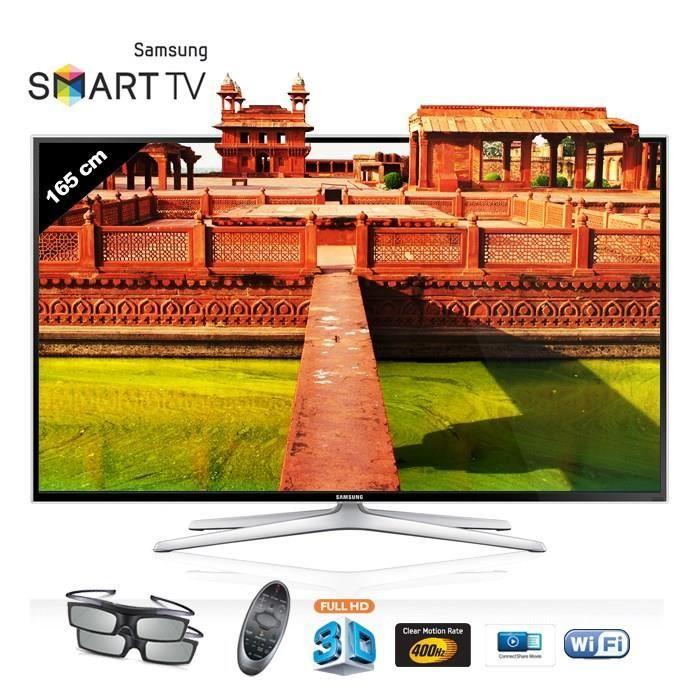 samsung ue65h6400awxzf smart tv led full hd 3d 165 achat. Black Bedroom Furniture Sets. Home Design Ideas