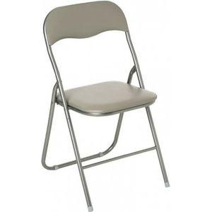 CHAISE Lot de 6 chaises pliantes taupe Autres Sable