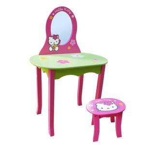 COIFFEUSE Coiffeuse avec Tabouret Hello Kitty