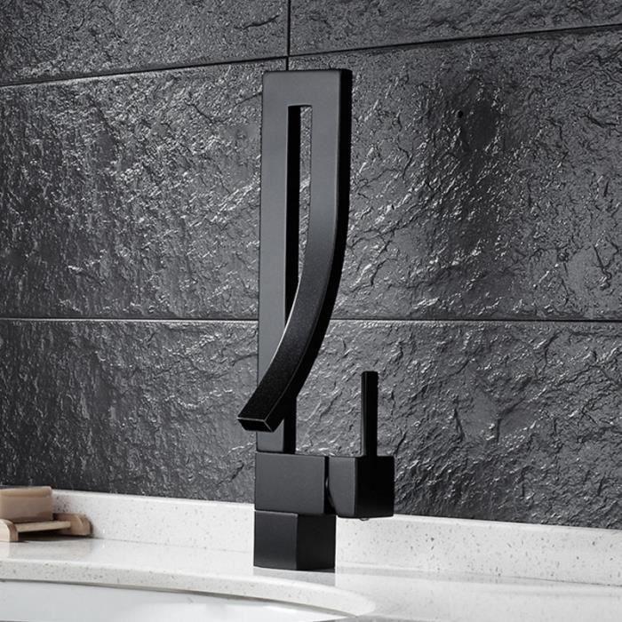 Tout cuivre robinet lavabo salle bains noir d 39 eau chaude for Lavabo noir salle de bain