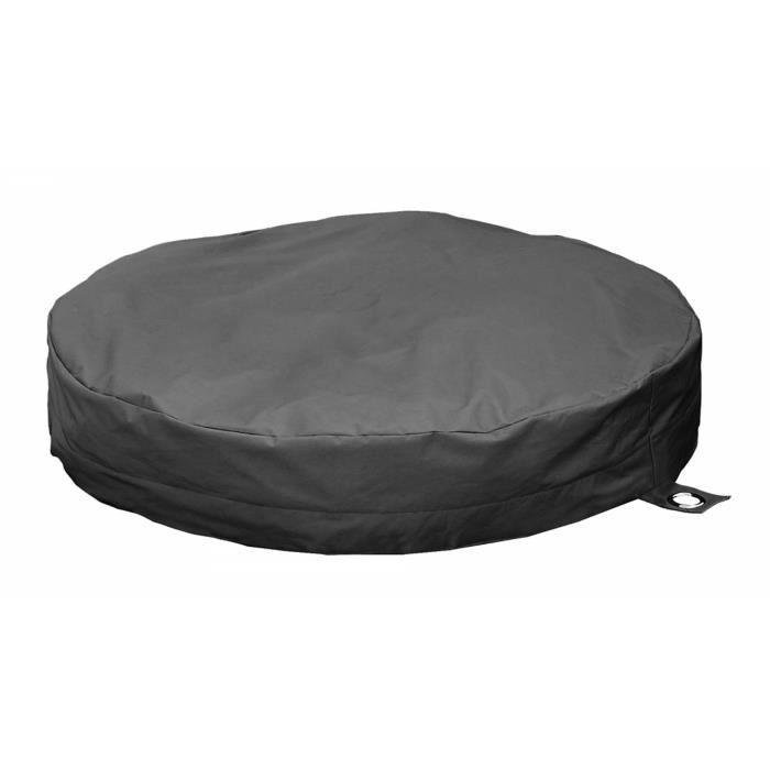 coussin de jardin plat gris achat vente pouf poire cdiscount. Black Bedroom Furniture Sets. Home Design Ideas