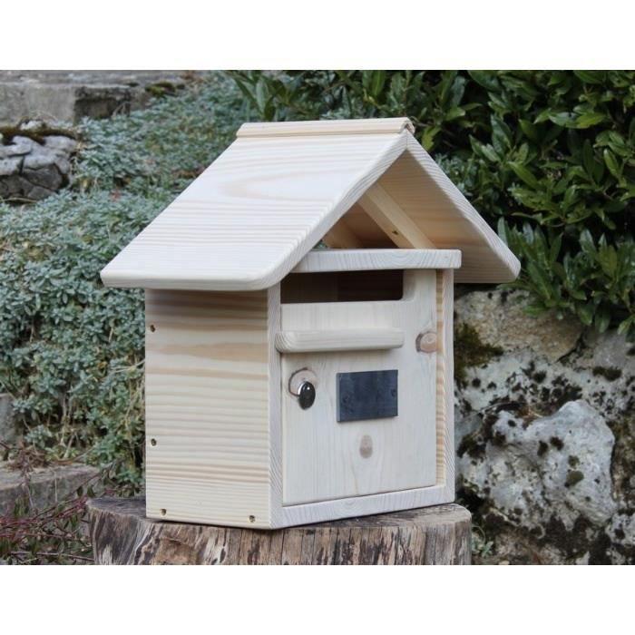 boite aux lettres en bois courte maillat 1 porte achat vente boite aux lettres cdiscount. Black Bedroom Furniture Sets. Home Design Ideas