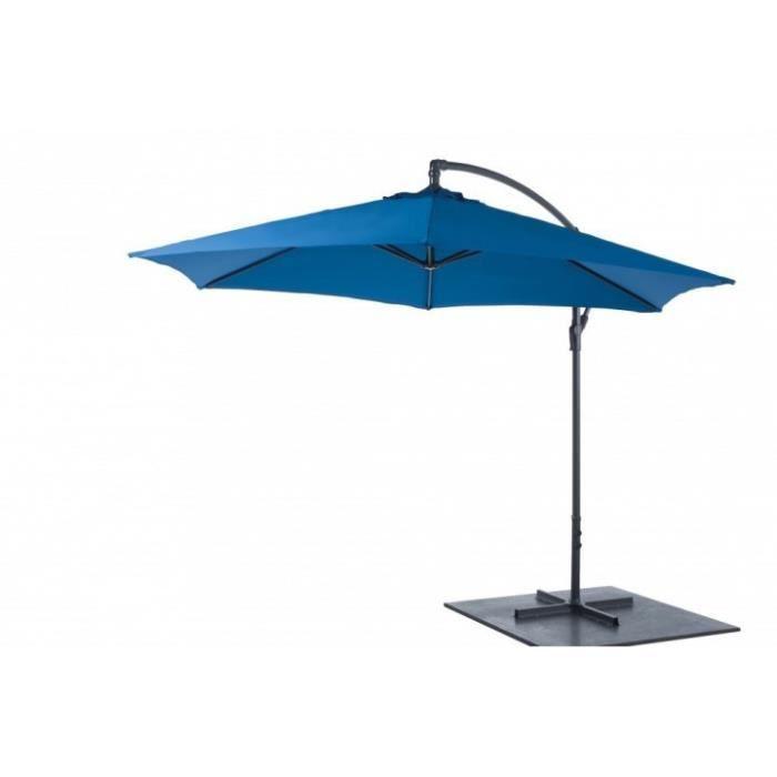 parasol de luxe d port rond 300cm bleu achat vente. Black Bedroom Furniture Sets. Home Design Ideas