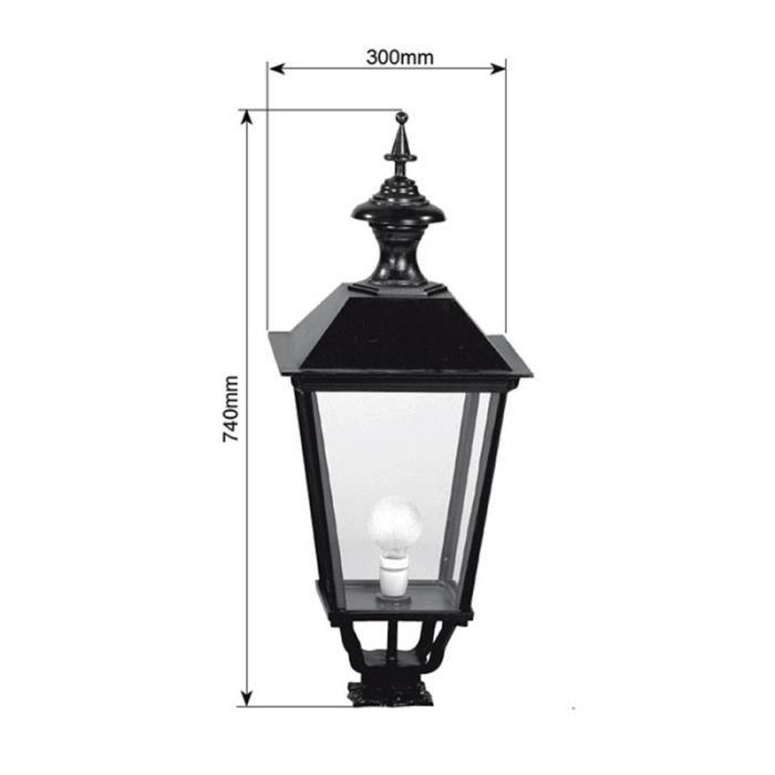 luminaire ext rieur faubourg carr 74cm vert fonc achat vente lampion luminaire ext rieur. Black Bedroom Furniture Sets. Home Design Ideas