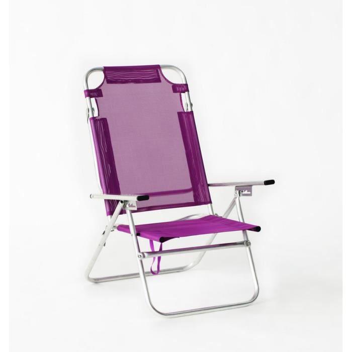 bora 140 fauteuil de plage pliable couleur fu achat vente chaise fauteuil jardin bora. Black Bedroom Furniture Sets. Home Design Ideas