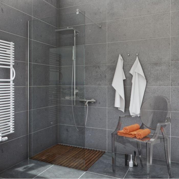 Marcher dans douche salle d 39 eau salle de bains de verre - Salle d eau salle de bain ...