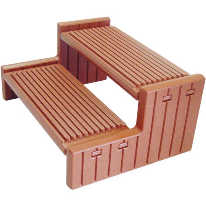 escalier pvc gris pour spa. Black Bedroom Furniture Sets. Home Design Ideas