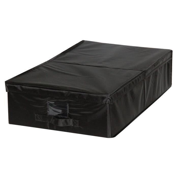eve housse de rangement dessous de lit noir m 40x32x5 cm. Black Bedroom Furniture Sets. Home Design Ideas