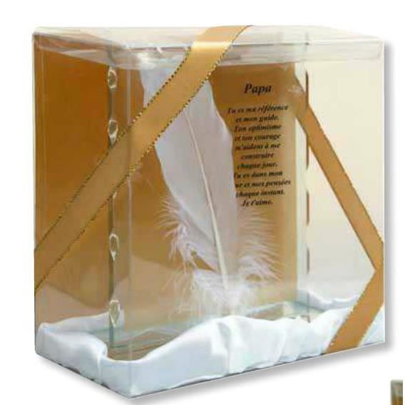 plaque verre poussi re d 39 ange papa 15x15cm mod le 3. Black Bedroom Furniture Sets. Home Design Ideas