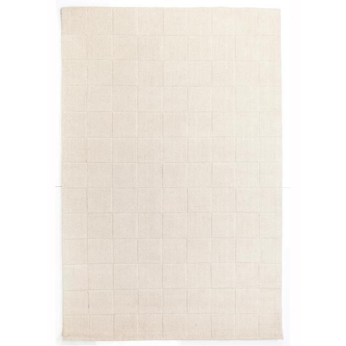 tapis pour salon uni luzern blanc 140x200 par unamourdetapis tapis moderne achat vente. Black Bedroom Furniture Sets. Home Design Ideas