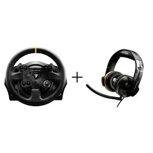 Pack Thrustmaster : Volant TX Racing Wheel Leather Edition - PC / Xbox One + Micro-Casque Gamer Y-300CPX GRWL Edition - Filaire