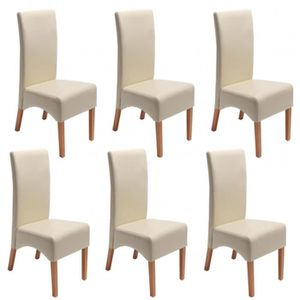 Chaises de salle a manger pied en bois clair achat - Lot 6 chaises salle a manger ...