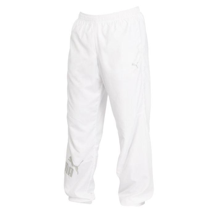 puma pantalon de surv tement homme blanc achat vente surv tement de sport cdiscount. Black Bedroom Furniture Sets. Home Design Ideas