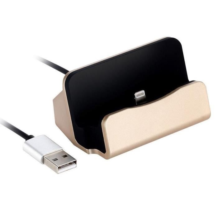 adaptateur magnetique chargeur usb base pour iphone 6 6plus 7 7plus or achat chargeur. Black Bedroom Furniture Sets. Home Design Ideas