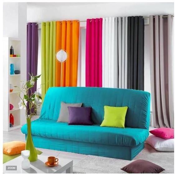 housse clic clac bleu vert turquoise avec bande de socle. Black Bedroom Furniture Sets. Home Design Ideas