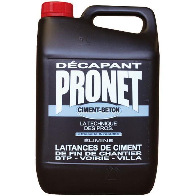 Pronet d capant ciment nettoyant laitance voile ciment 5lt for Enlever voile de ciment sur carrelage