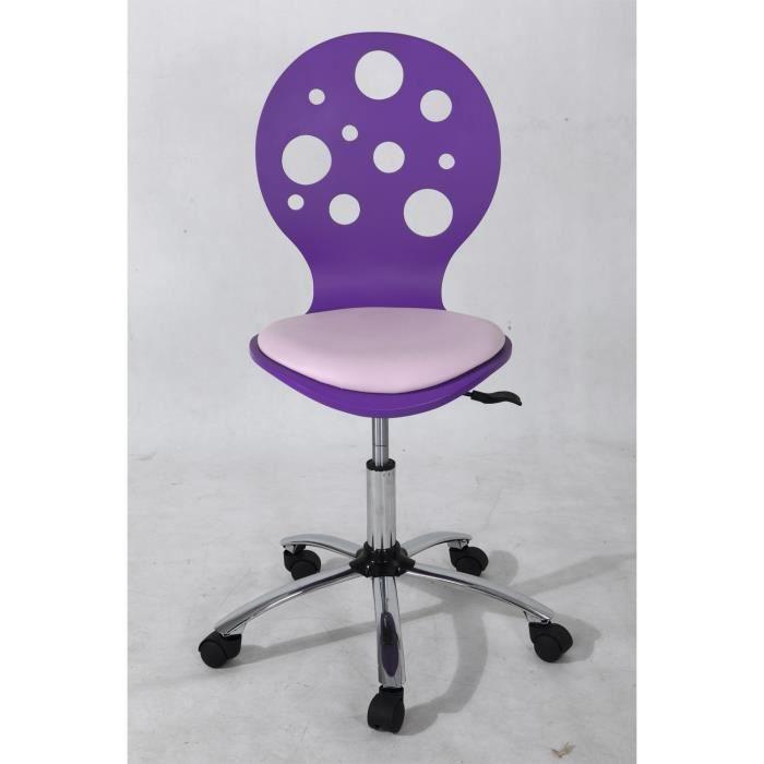 chaise de bureau violet avec des petits trous r achat vente chaise de bureau violet cdiscount. Black Bedroom Furniture Sets. Home Design Ideas