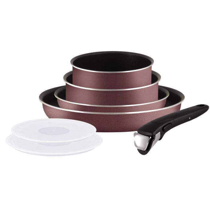 Tefal ingenio5 set 7 pi ces aubergine achat vente - Tefal batterie de cuisine ...