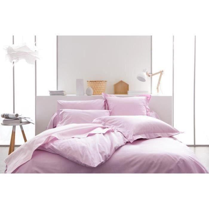 housse de couette rose poudre achat vente housse de. Black Bedroom Furniture Sets. Home Design Ideas