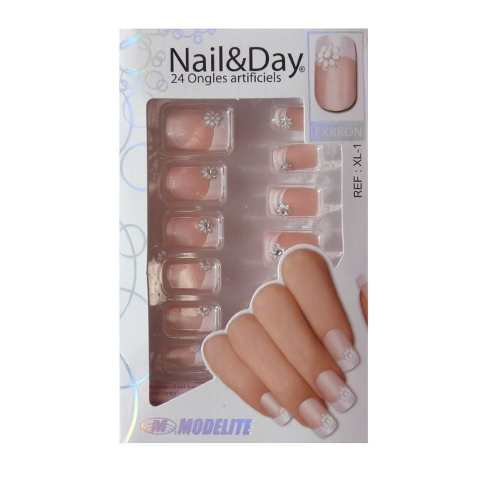 24 faux ongles nail day xl 1 colle achat vente faux ongles faux ongles xl 1 cdiscount. Black Bedroom Furniture Sets. Home Design Ideas