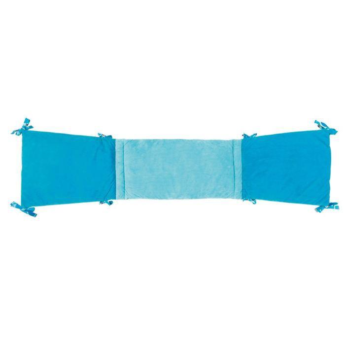 Tour de lit singe bleu achat vente tour de lit b b - Tour de lit bebe bleu turquoise ...