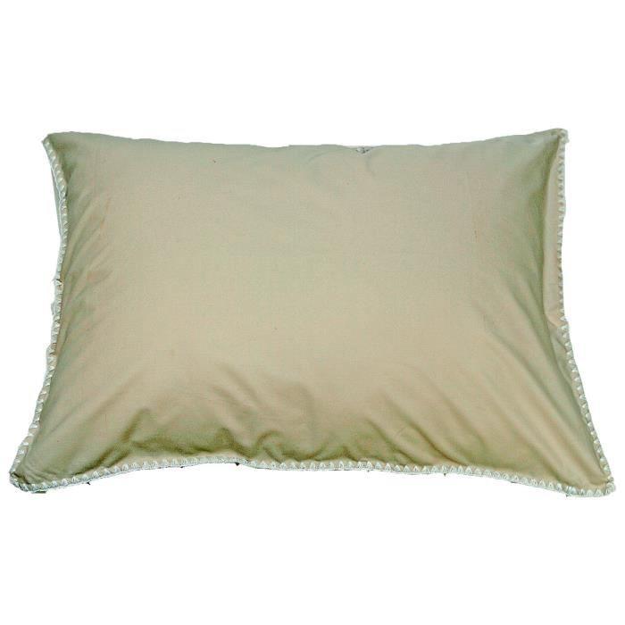 taie oreiller percale venise sensei la maison du coton ficelle blanc taille 50x70. Black Bedroom Furniture Sets. Home Design Ideas
