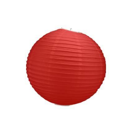 Boule papier rouge 30 cm x3 achat vente d co de f te for Boule de papier deco