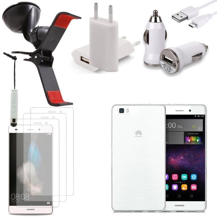 pour huawei p8lite ale l21 lot coque pochette accessoires support chargeur voiture films. Black Bedroom Furniture Sets. Home Design Ideas