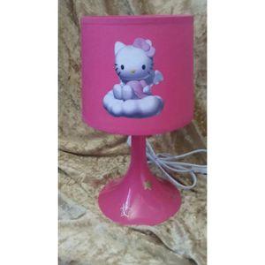 LAMPE A POSER lampe de chevet  enfant rose hello kitty