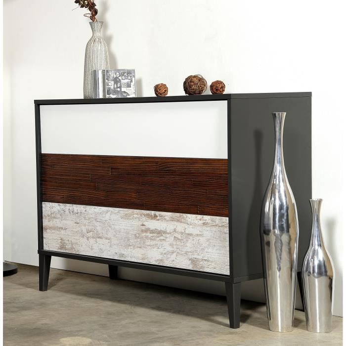 craft commode vintage 110 cm achat vente commode de chambre craft commode 110 cm panneaux de. Black Bedroom Furniture Sets. Home Design Ideas