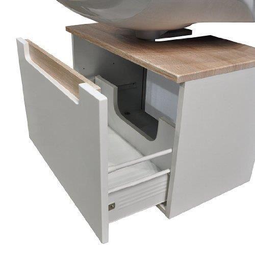 siena meuble sous vier 1 tiroir m tallique blanc brillant ch ne sonoma design jaute qualit. Black Bedroom Furniture Sets. Home Design Ideas