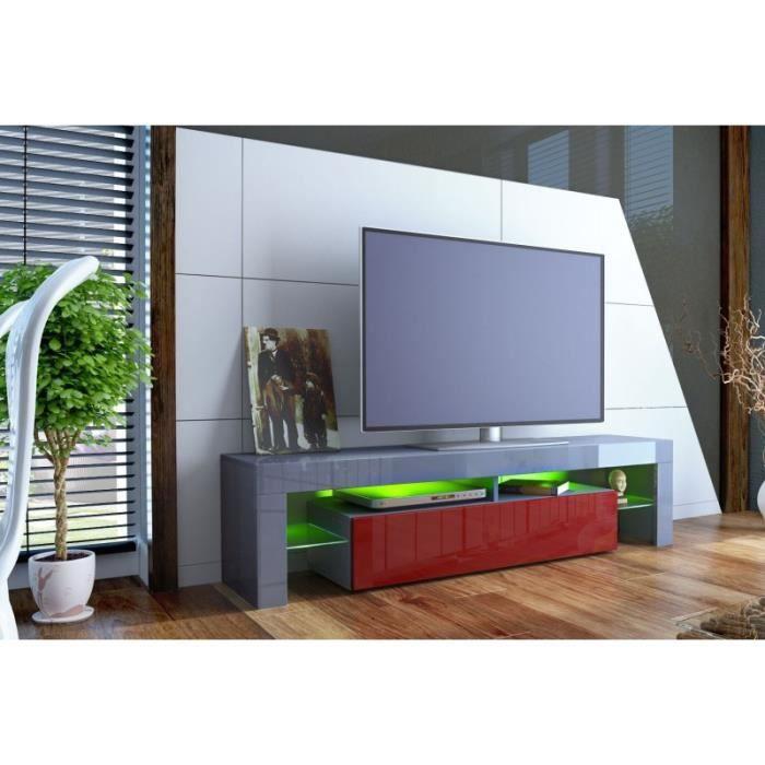 meuble tv design laqu gris et bordeaux non gris. Black Bedroom Furniture Sets. Home Design Ideas