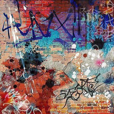 Sticker mural autocollant d co graffiti tag achat for Deco autocollant mural