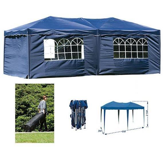 tonnelle de r ception pliante bleue 3x6 m achat vente tonnelle barnum tonnelle de. Black Bedroom Furniture Sets. Home Design Ideas