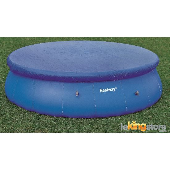 B che piscine ronde fast set pools 366cm bestway b che for Bache protection piscine ronde