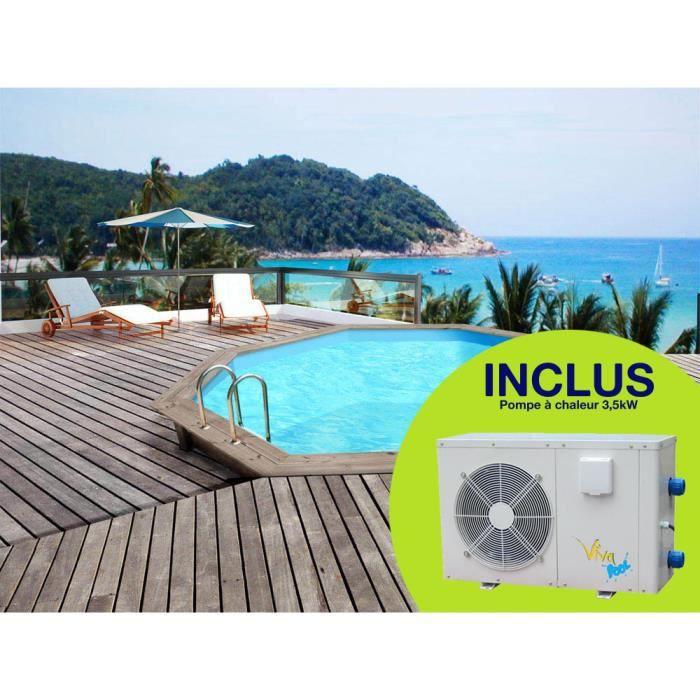 Piscine bois x pompe chaleur 3 5 kw achat vente kit piscine piscine bois - Piscine bois classe 5 ...