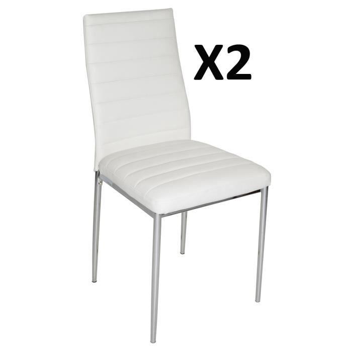 lot de 2 chaises de salon blanche avec pieds garniture. Black Bedroom Furniture Sets. Home Design Ideas