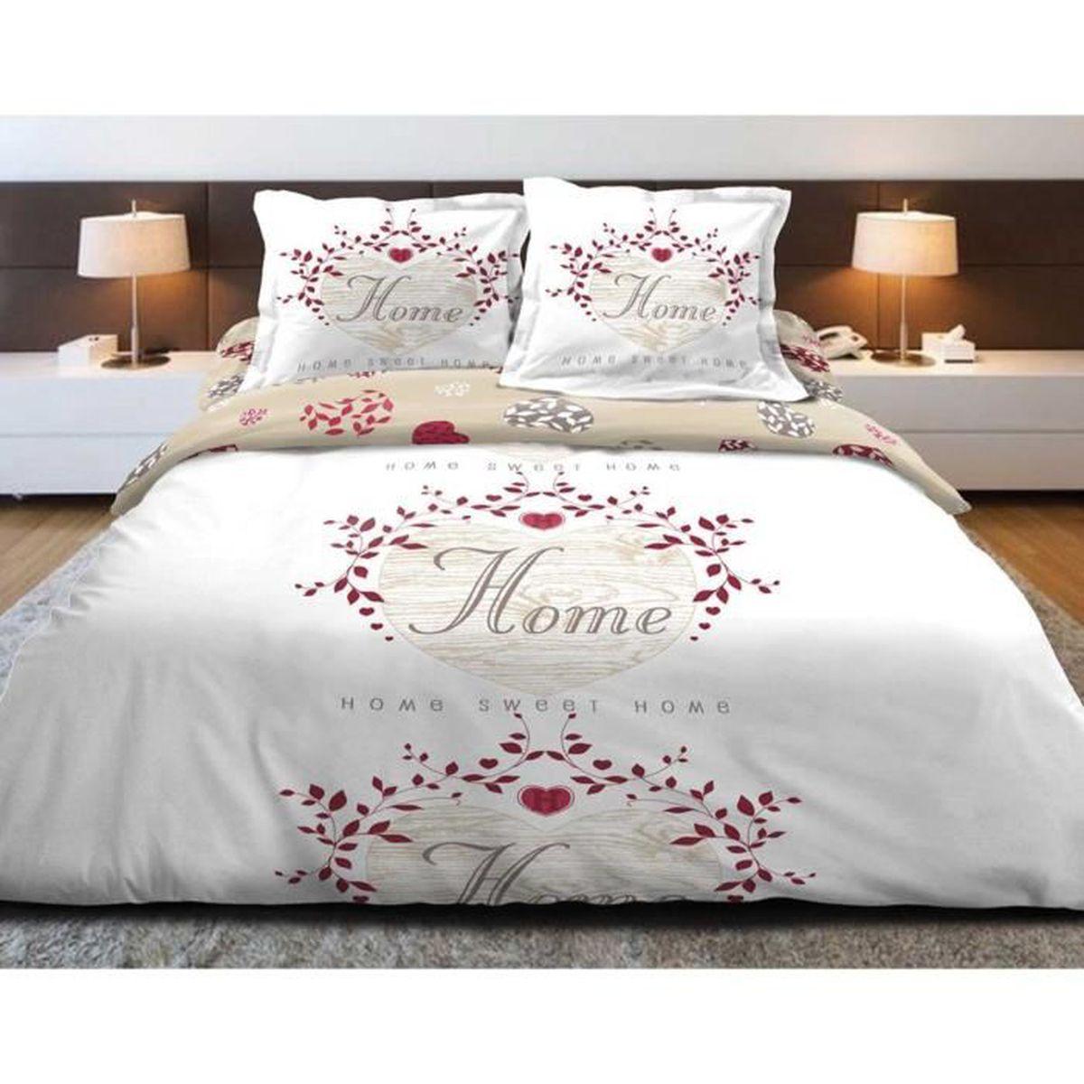 housse de couette rouge et blanc achat vente housse de couette rouge et blanc pas cher. Black Bedroom Furniture Sets. Home Design Ideas