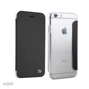 XQISIT Etui Folio Flap Adour iPhone 6 6S Plus Gris