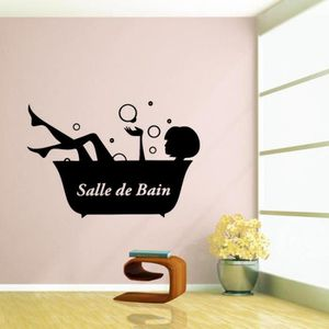 stickers muraux salle de bain achat vente stickers muraux salle de bain pas cher soldes. Black Bedroom Furniture Sets. Home Design Ideas