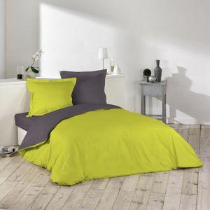 housse de couette 220x240 vert achat vente housse de couette 220x240 vert. Black Bedroom Furniture Sets. Home Design Ideas