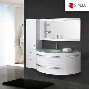 meuble salle de bain blanc avec vasque 120cm achat vente meuble salle de bain blanc avec. Black Bedroom Furniture Sets. Home Design Ideas