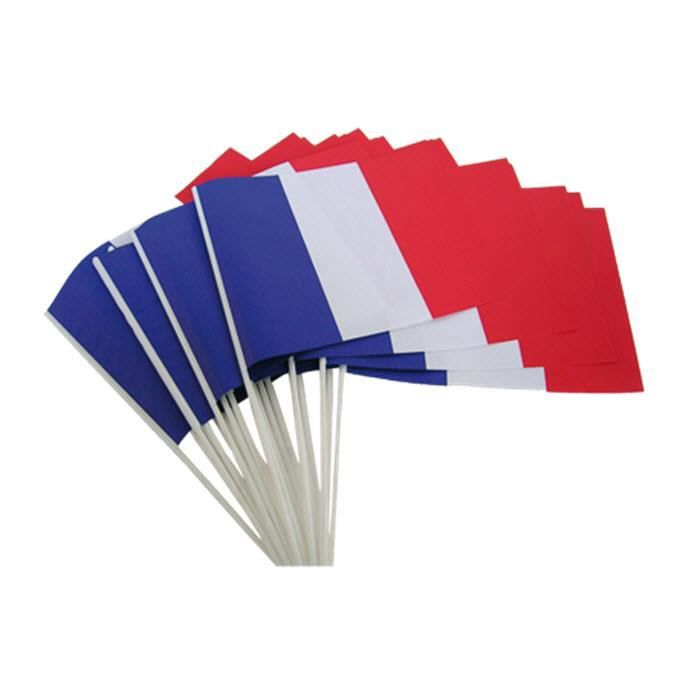 lot de 12 pi ces 14x21cm drapeau france de drapeau national pour soutenir euro 2016 achat. Black Bedroom Furniture Sets. Home Design Ideas