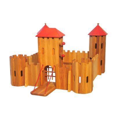Jouet en bois forteresse chateau fort achat vente univers miniature - Chateau fort en bois ...