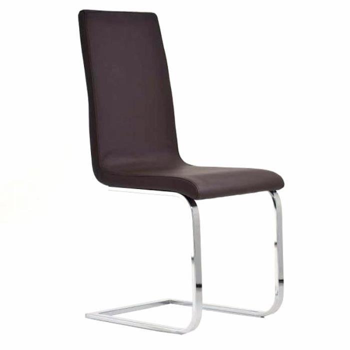 Chaise de salle manger brun en similicuir di achat for Chaise de salle a manger brun
