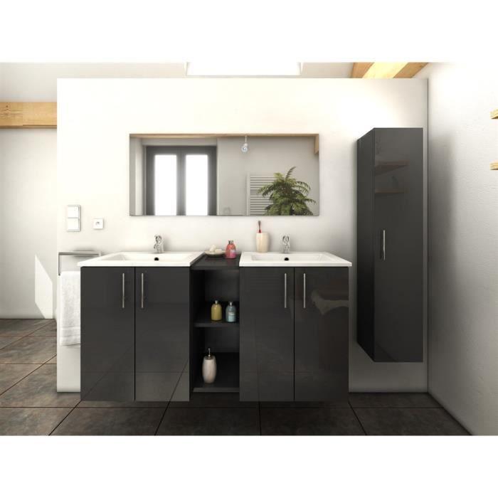 meuble de salle de bains 120cm 1 colonne tina gris mg. Black Bedroom Furniture Sets. Home Design Ideas