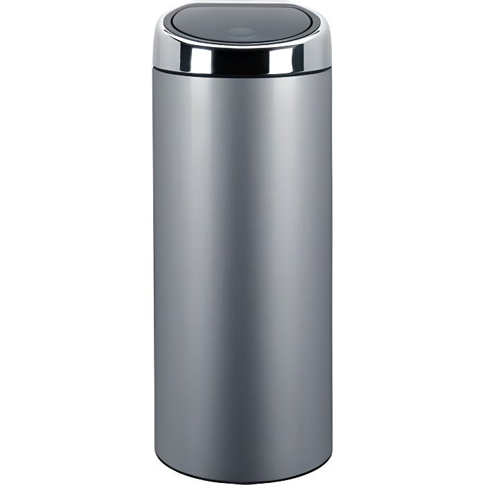 brabantia touch bin 30l m tal grey achat vente. Black Bedroom Furniture Sets. Home Design Ideas